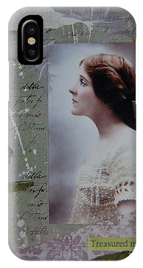 Edwardian IPhone X Case featuring the painting Treasured Moments by Tamyra Crossley