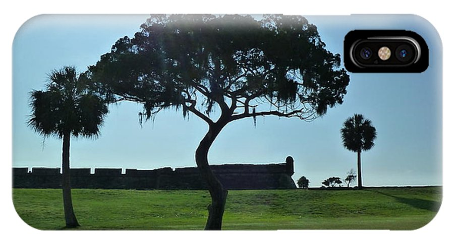 St. Augustine IPhone X Case featuring the photograph Tree Fort by Phil King