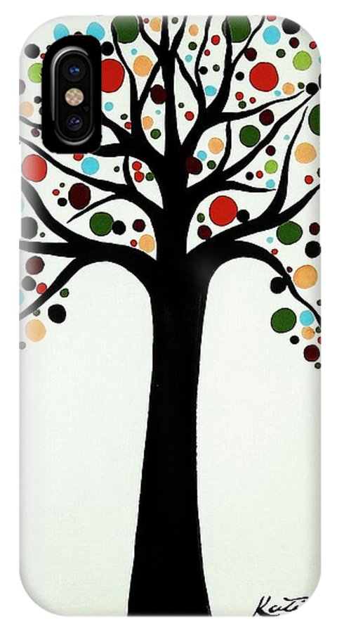 Modern Art IPhone X Case featuring the painting Tree Of Life by Katie Slaby