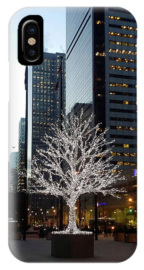 Landscape IPhone X Case featuring the photograph Tree Of Lights II by Nicky Jameson