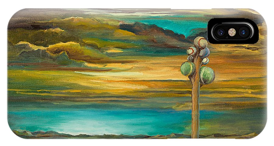 Salt Flats IPhone X Case featuring the painting Tree Of Utah by Chi E Shenam Westin