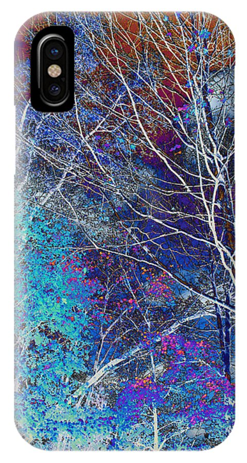 Landscape IPhone X Case featuring the photograph Trees Alive With Color by Paul Szakacs