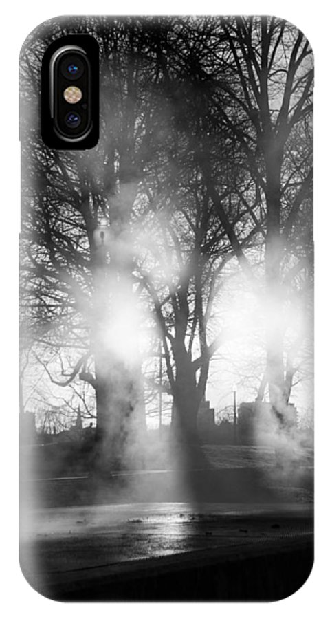 Trees IPhone X Case featuring the photograph Trees And Fog by David Pinsent