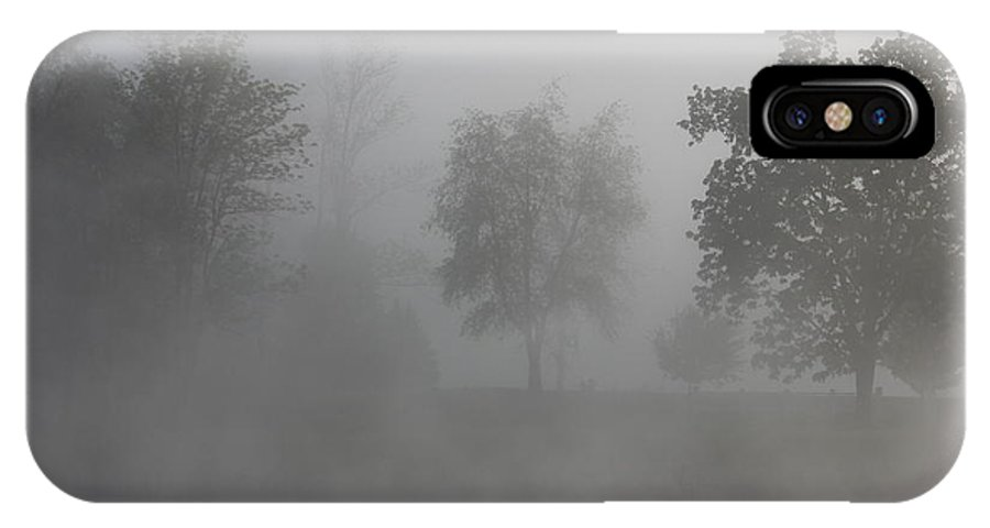 Fog IPhone X Case featuring the photograph Trees In Morning Fog 2 by Jeff Roney