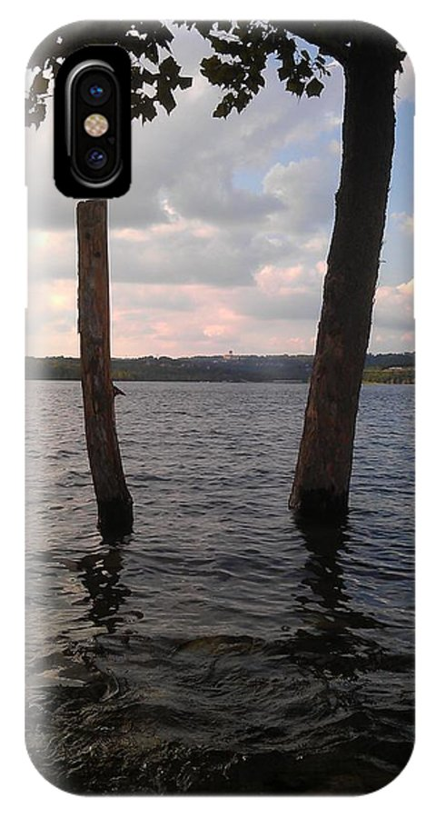 Table Rock Lake IPhone X Case featuring the photograph Trees In Water by Kim Martin