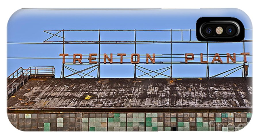 Trenton IPhone X Case featuring the photograph Trenton Plant by Jason Layden