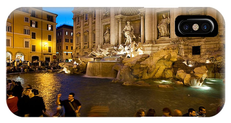 Historical IPhone X / XS Case featuring the photograph Trevi Fountain by David Davis