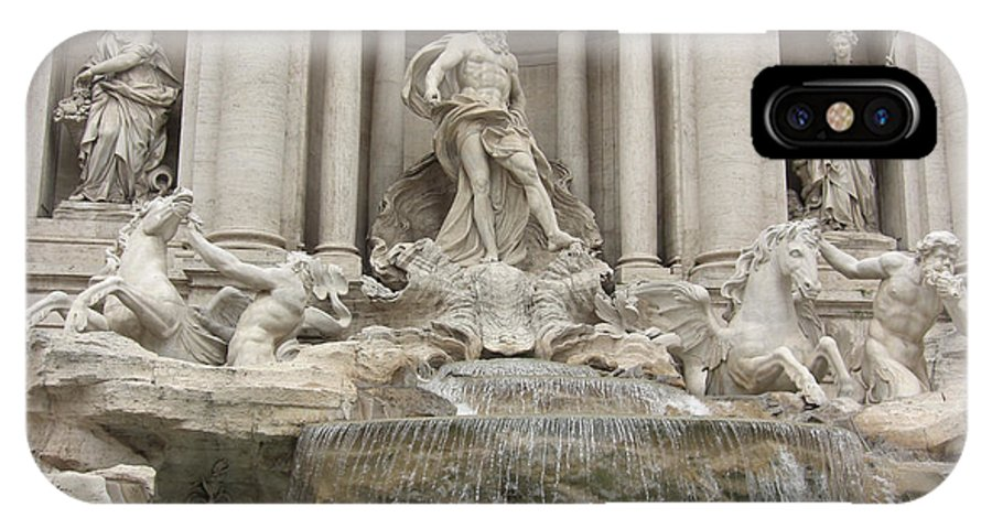 Early Morning Trevi Fountain IPhone X Case featuring the photograph Trevi Fountain In Rome by Deborah Smolinske