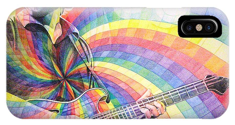 Phish IPhone X Case featuring the drawing Trey Anastasio Rainbow by Joshua Morton