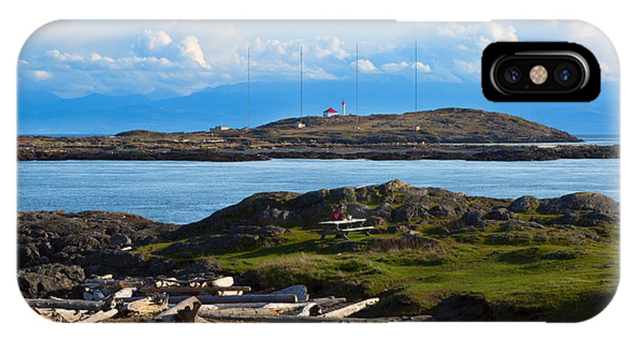 Trial Island IPhone X Case featuring the photograph Trial Island And The Strait Of Juan De Fuca by Louise Heusinkveld