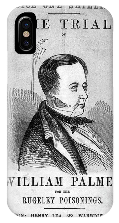 Human IPhone X Case featuring the photograph Trial Of William Palmer by National Library Of Medicine