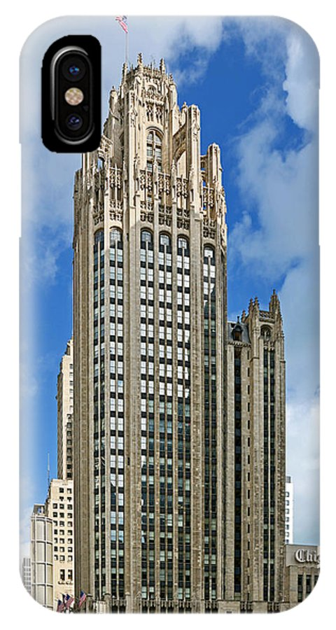 Michigan IPhone X Case featuring the photograph Tribune Tower - Beautiful Chicago Architecture by Christine Till