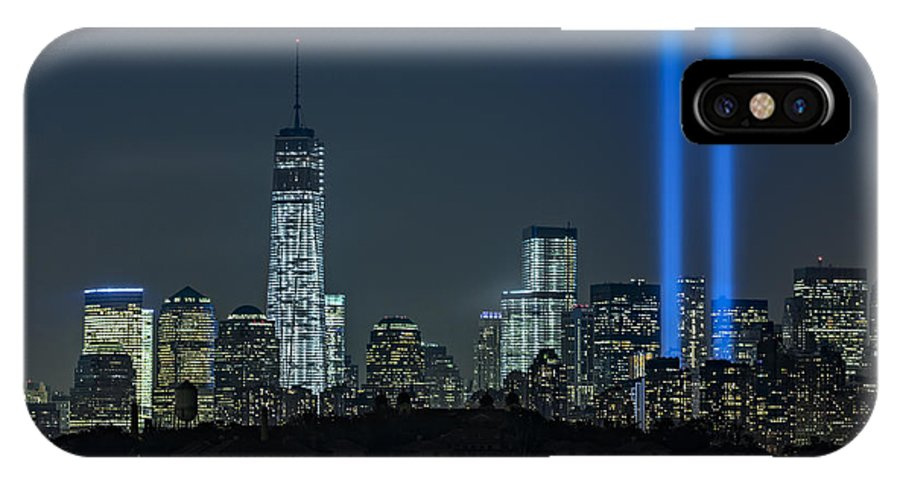911 IPhone X Case featuring the photograph Tribute In Light 2013 by Susan Candelario
