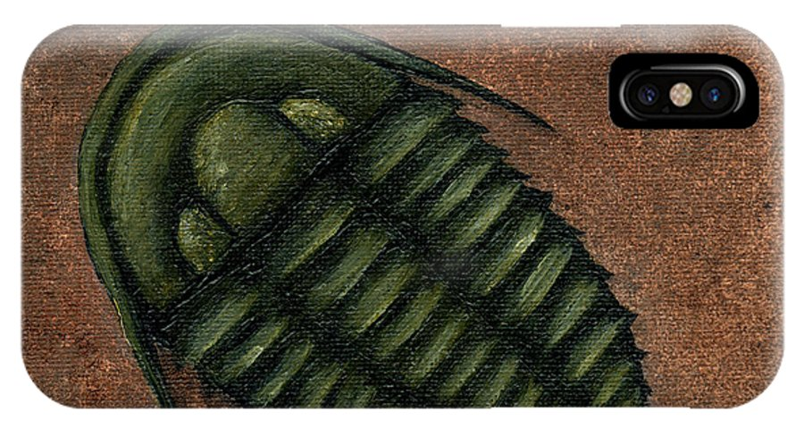 Trilobite IPhone X Case featuring the painting Trilobite by Sheryl Westleigh