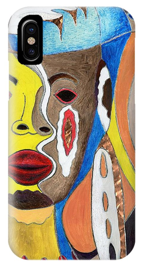Spirit IPhone X Case featuring the mixed media Trinifity by Richard Jules