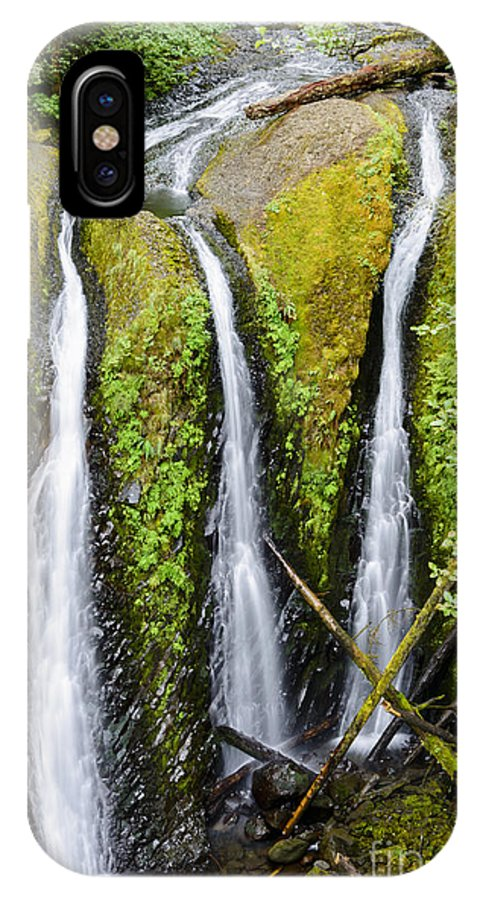 Rainforest IPhone X / XS Case featuring the photograph Triple Falls by Oscar Gutierrez