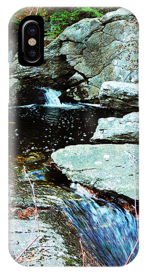 Waterfall IPhone X Case featuring the photograph Triple Waterfall by Kevin Fortier