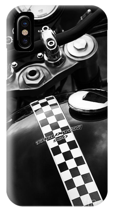 Triumph IPhone X Case featuring the photograph Thruxton by Tim Gainey