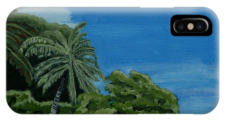 Beach IPhone Case featuring the painting Tropical Beach by Anthony Dunphy