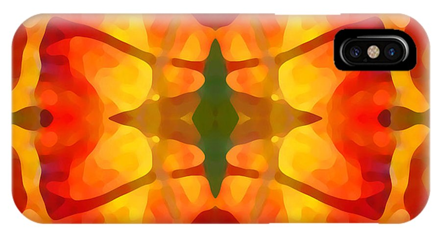 Abstract IPhone Case featuring the painting Tropical Leaf Pattern5 by Amy Vangsgard