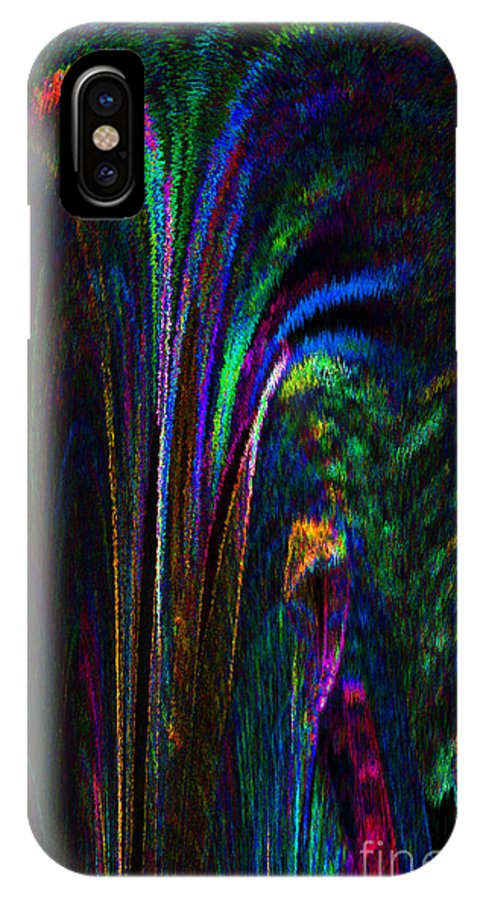 Digital Art IPhone X Case featuring the digital art Tropical Moonlight by Patricia Kay