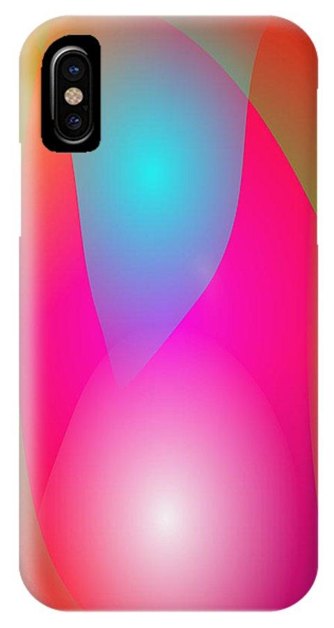 Gradation IPhone X Case featuring the digital art Tropical Waterfall by Masaaki Kimura