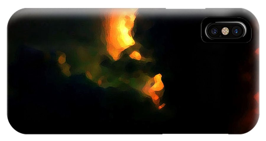Digital Art Abstract IPhone X Case featuring the digital art Trouble Brewing The Storm by Gayle Price Thomas