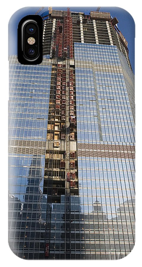 Trump Hotel IPhone X Case featuring the photograph Trump International Hotel Under Construction Chicago by Jason O Watson