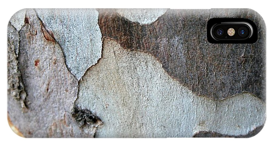 Bark IPhone X Case featuring the photograph Trunk Of A Eucalyptus Tree by Taiche Acrylic Art