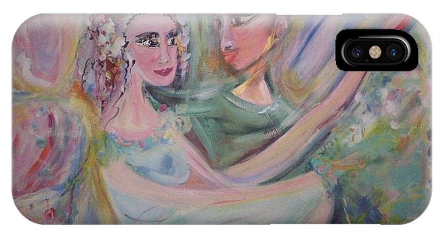 Trust IPhone X Case featuring the painting Trust Me On This by Judith Desrosiers