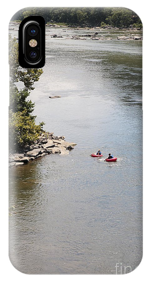 Potomac IPhone X Case featuring the photograph Tubing On The Potomac River At Harpers Ferry by William Kuta