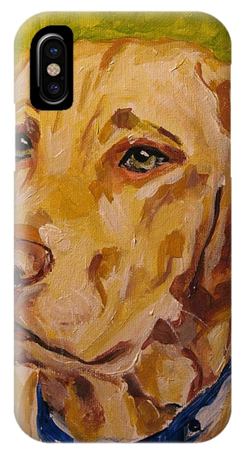 IPhone X Case featuring the painting Tucker by Susan Elizabeth Jones