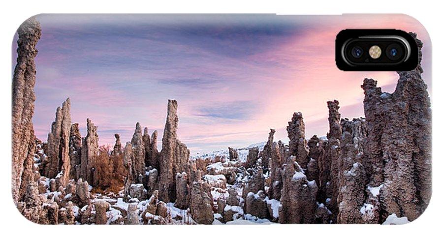 Tufa Mono Lake IPhone X Case featuring the photograph Tufa Mono Lake by Suntaree Pham