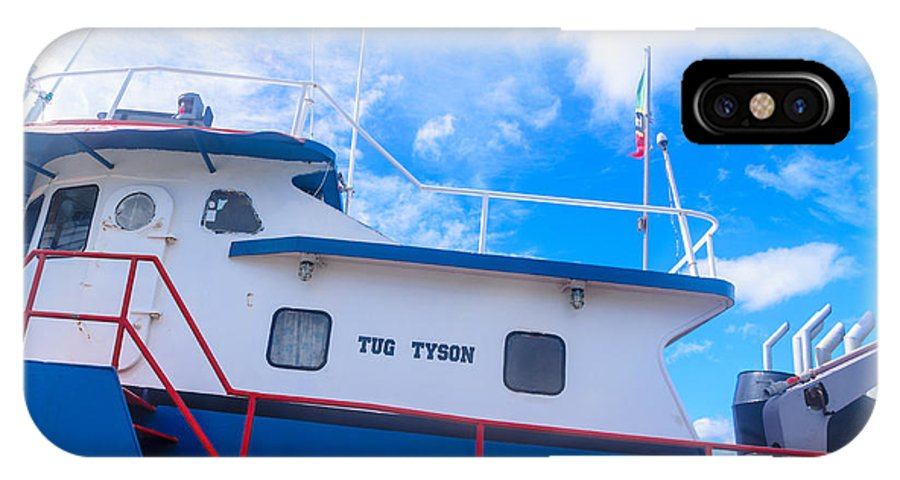 Travel IPhone X Case featuring the photograph Tug Tyson by AE Jones