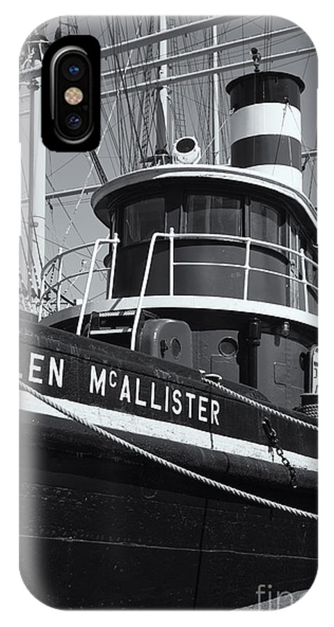 Clarence Holmes IPhone X / XS Case featuring the photograph Tugboat Helen Mcallister II by Clarence Holmes