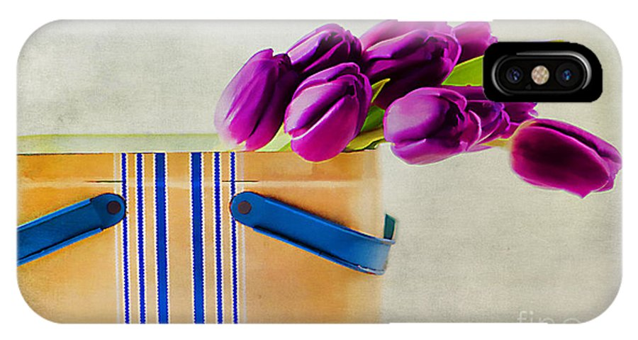 Arrangement IPhone X Case featuring the photograph Tulips For Mom by Darren Fisher