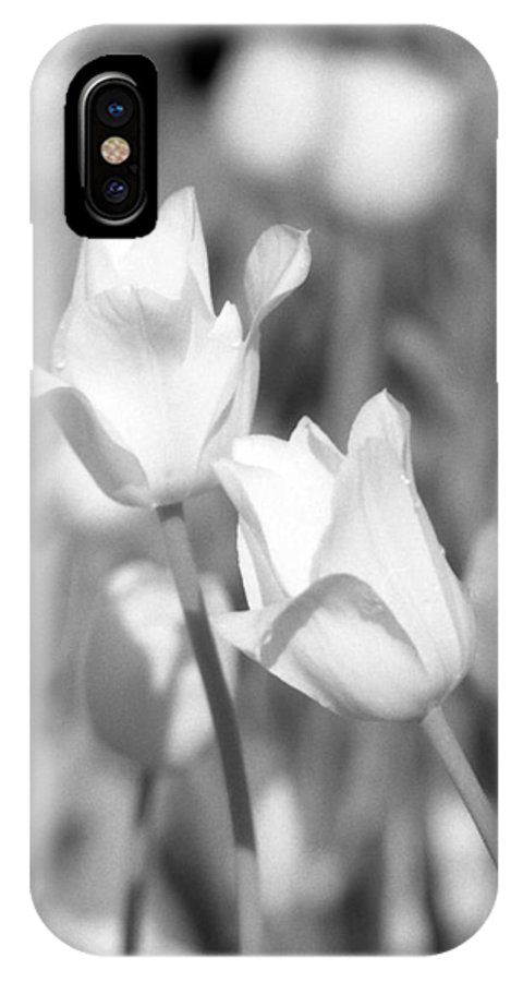 Tulip IPhone X Case featuring the photograph Tulips - Infrared 12 by Pamela Critchlow