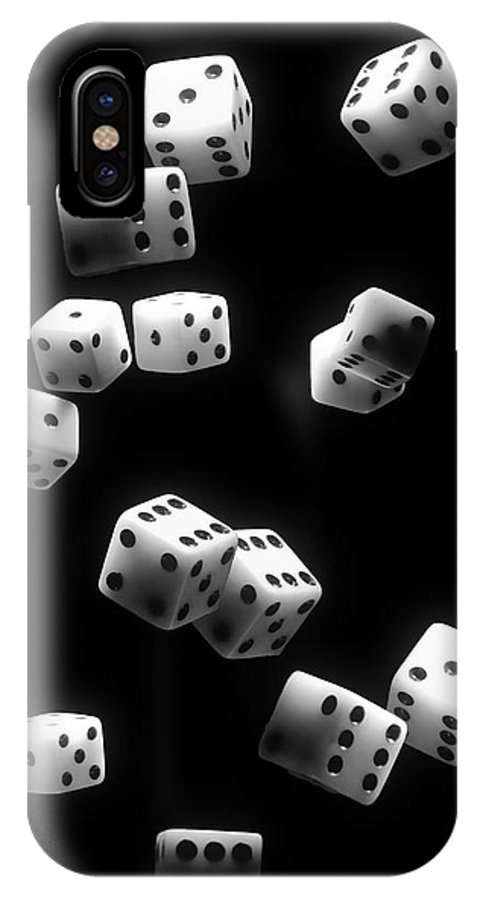 Dice IPhone X Case featuring the photograph Tumbling Dice by Tom Mc Nemar