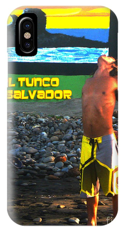 El Salvador IPhone X Case featuring the photograph Tunco Card Stretch Ylwm Pl by Stav Stavit Zagron