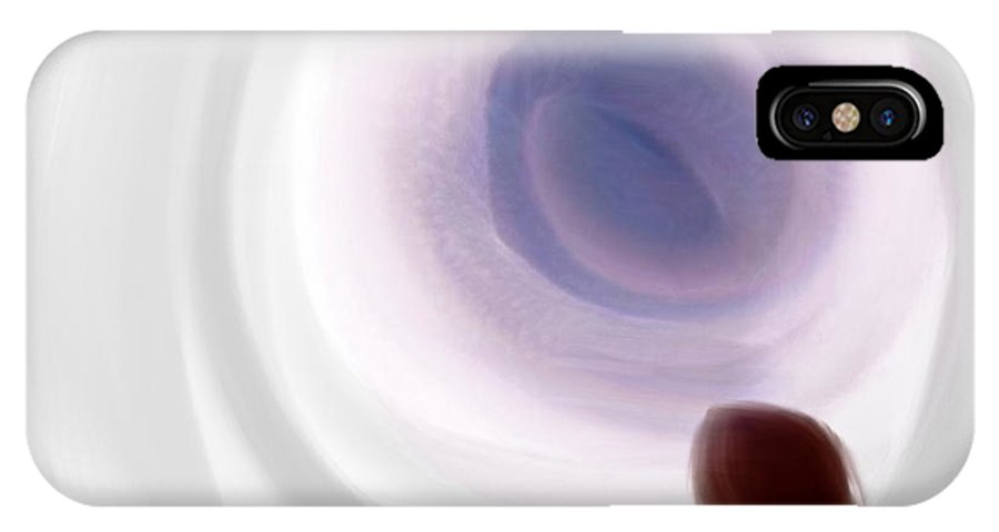 Tunnel IPhone X Case featuring the painting Tunnel by Len YewHeng