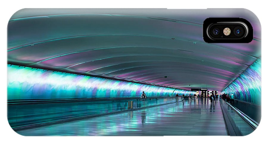 Colur IPhone X Case featuring the photograph Tunnel Of Colour by Michael Podesta