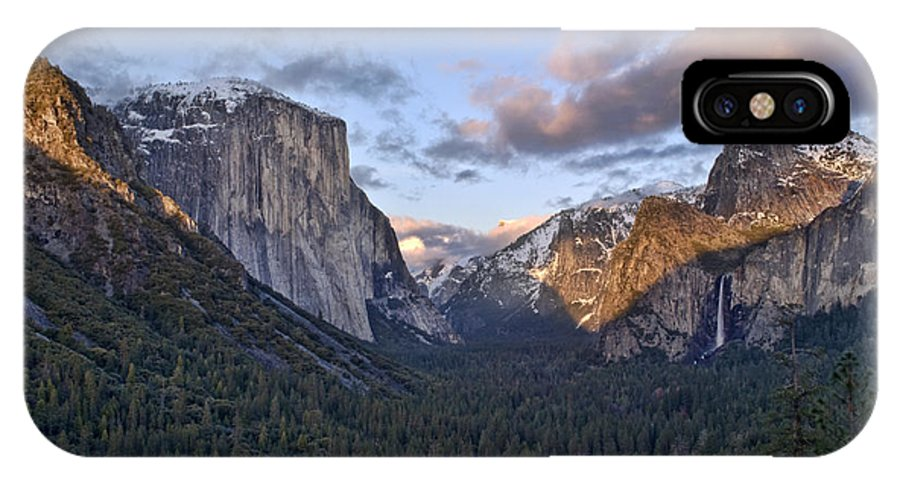 Landscape IPhone X Case featuring the photograph Tunnel View by Richard Verkuyl