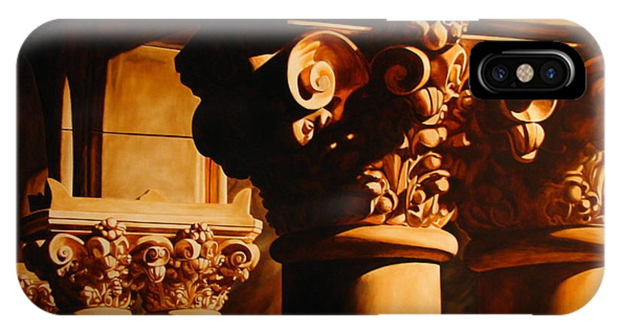 Corinthian Columns IPhone Case featuring the painting Turn Of The Century by Keith Gantos
