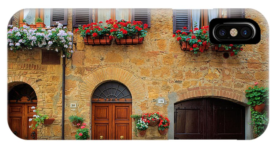 Europe IPhone X Case featuring the photograph Tuscan Homes by Inge Johnsson