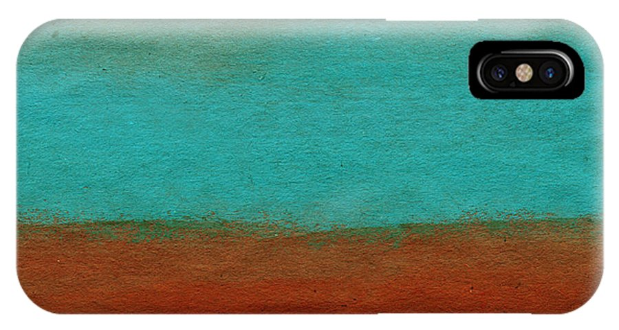 Abstract Landscape IPhone X Case featuring the painting Tuscan by Linda Woods