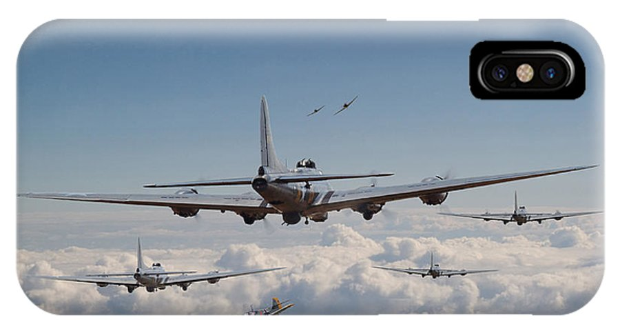 Aircraft IPhone X / XS Case featuring the digital art Twelve Oclock High by Pat Speirs