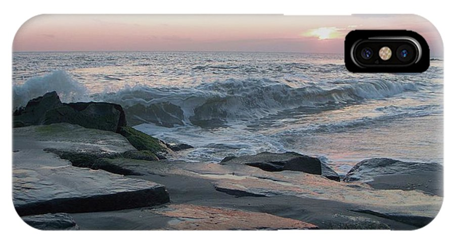 Twilight IPhone X Case featuring the photograph Twilight At Cape May In October by Eric Schiabor