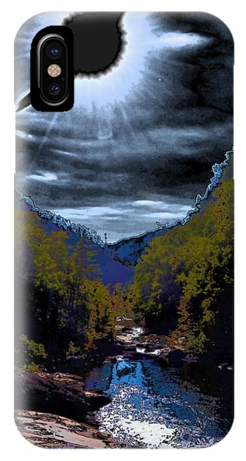 Goth IPhone X Case featuring the photograph Twilight Canyon Eclipse by James Potts