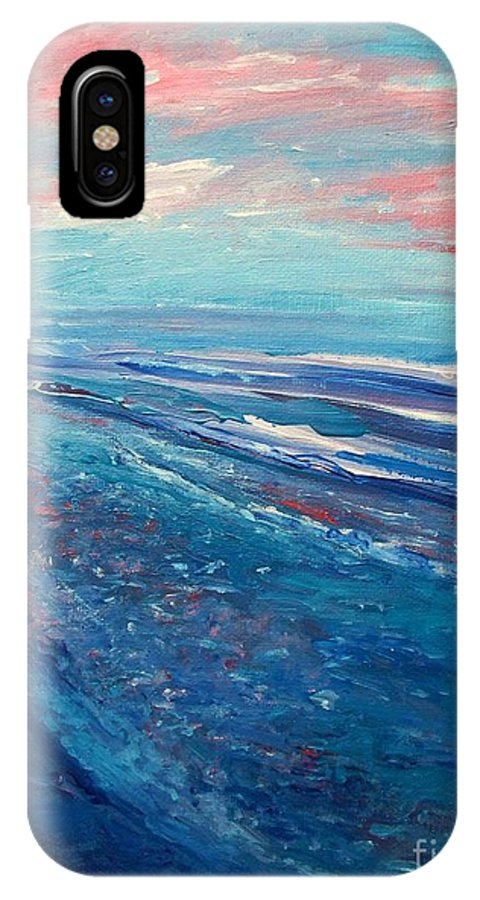 The Actor IPhone X Case featuring the painting Twilight by Eric Schiabor