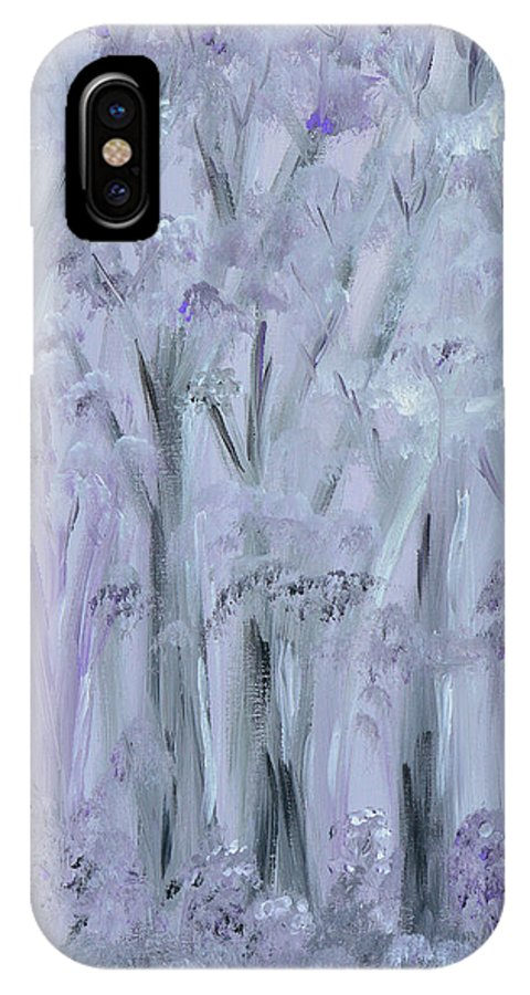 Forest IPhone X Case featuring the painting Twilight Forest by Donna Blackhall